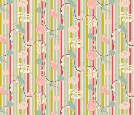 Garden Party  fabric by candyjoyce on Spoonflower - custom fabric