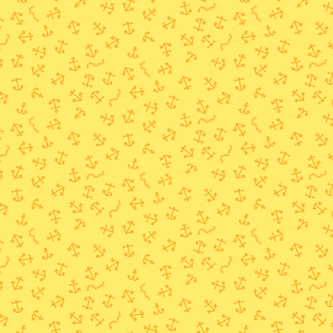 ditsy_anchors_yellow fabric by owls on Spoonflower - custom fabric