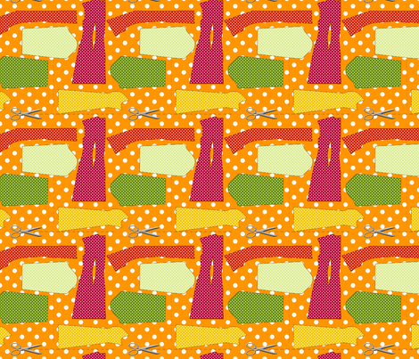 couture oh patron couture orange L fabric by nadja_petremand on Spoonflower - custom fabric