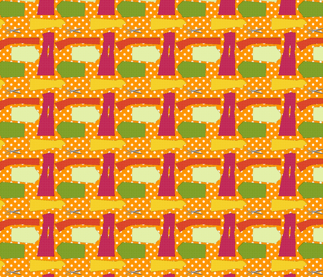couture oh patron couture orange M fabric by nadja_petremand on Spoonflower - custom fabric