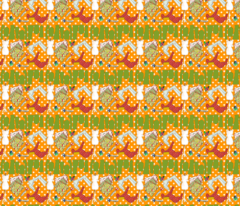 oh ma couture orange M fabric by nadja_petremand on Spoonflower - custom fabric