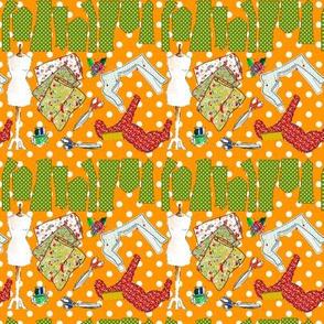 oh ma couture orange M