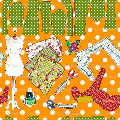 oh ma couture orange S