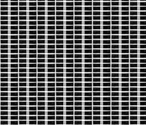 small wired plaid black_and_white fabric by knorberg on Spoonflower - custom fabric