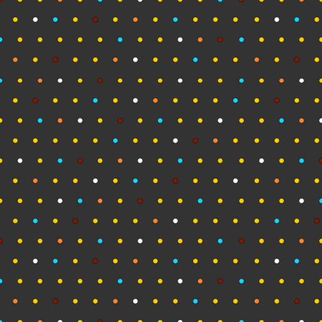Little Dots (on charcoal) fabric by lavaguy on Spoonflower - custom fabric