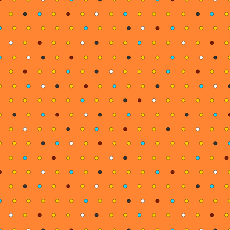 Little Dots (on orange) fabric by lavaguy on Spoonflower - custom fabric