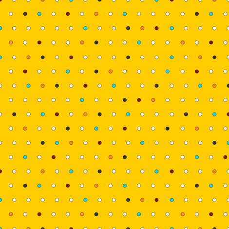 Little Dots (on yellow) fabric by lavaguy on Spoonflower - custom fabric