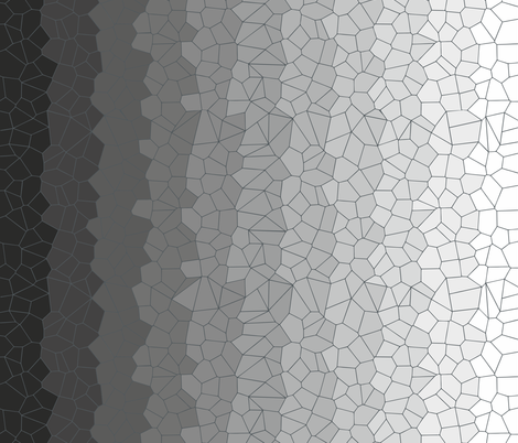 Black & White Voronoi fabric by candyjoyce on Spoonflower - custom fabric