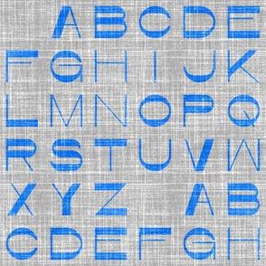 Alphabet on linen