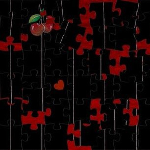 Cherry Pinstripe Puzzle