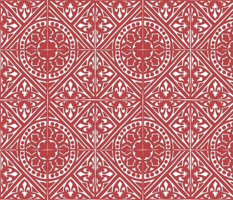 WhiteOnRed fabric by narthex on Spoonflower - custom fabric