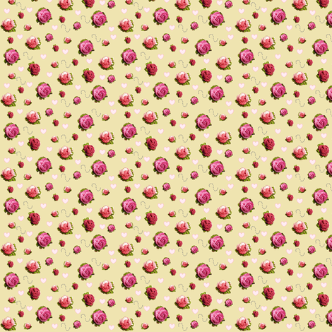 Crochet Flowers fabric by cottagecrafts on Spoonflower - custom fabric