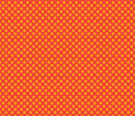 orange_dots fabric by terriaw on Spoonflower - custom fabric