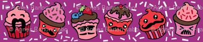 moustachioed cupcakes
