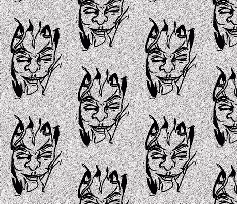 devilman fabric by kali_d on Spoonflower - custom fabric