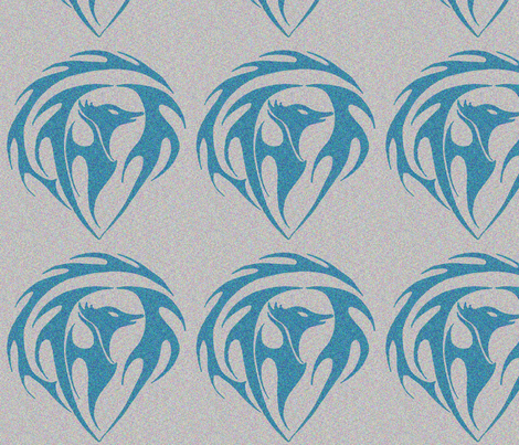 phoenixblue fabric by sharpestudiosdesigns on Spoonflower - custom fabric
