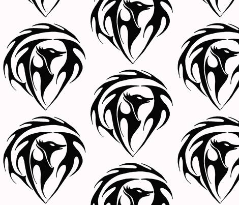 phoenixblack fabric by sharpestudiosdesigns on Spoonflower - custom fabric