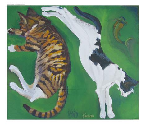 kitten sampler fabric by gallerypreview on Spoonflower - custom fabric