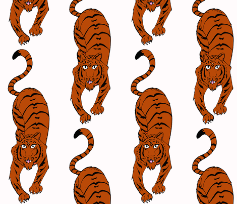 tiger fabric by sharpestudiosdesigns on Spoonflower - custom fabric
