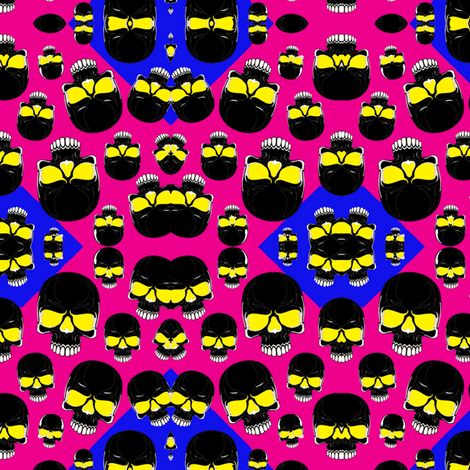 skulls fabric by sharpestudiosdesigns on Spoonflower - custom fabric