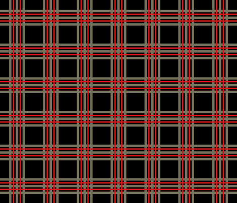 plaid_tartan_and _black fabric by holli_zollinger on Spoonflower - custom fabric