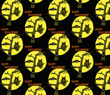 Happy_Halloween22 fabric by sharpestudiosdesigns on Spoonflower - custom fabric
