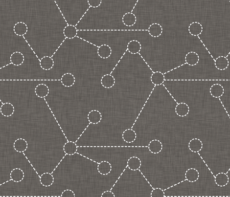 gray_dashed_molecules fabric by holli_zollinger on Spoonflower - custom fabric