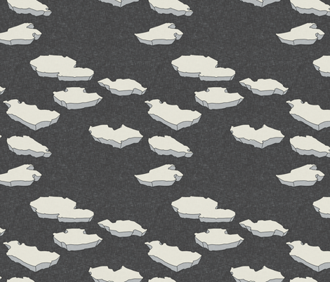 walrus_and_iceberg_linen fabric by holli_zollinger on Spoonflower - custom fabric