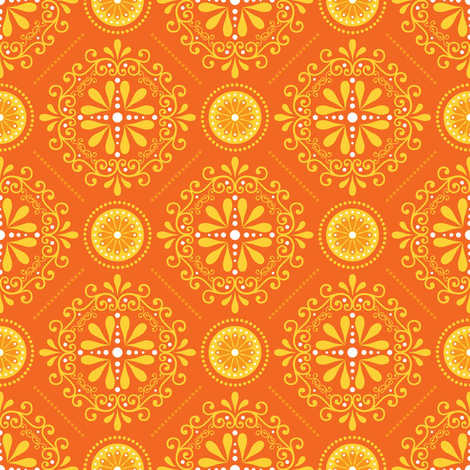 Solar Damask fabric by robyriker on Spoonflower - custom fabric