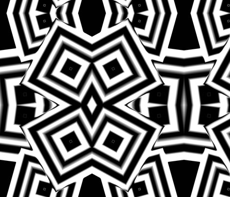 crazydiamondsbw fabric by sharpestudiosdesigns on Spoonflower - custom fabric