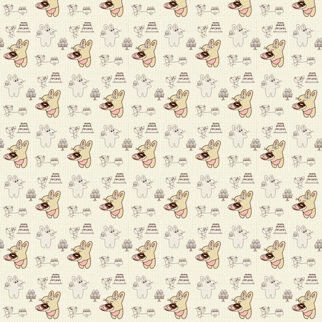 Kato's cafe tiny fabric by kato_kato on Spoonflower - custom fabric