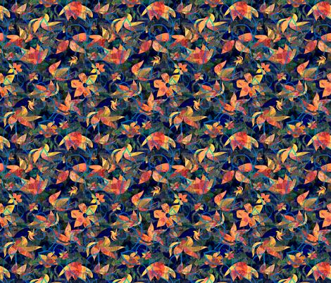 Midnight entwined fabric by gavannapatterns on Spoonflower - custom fabric