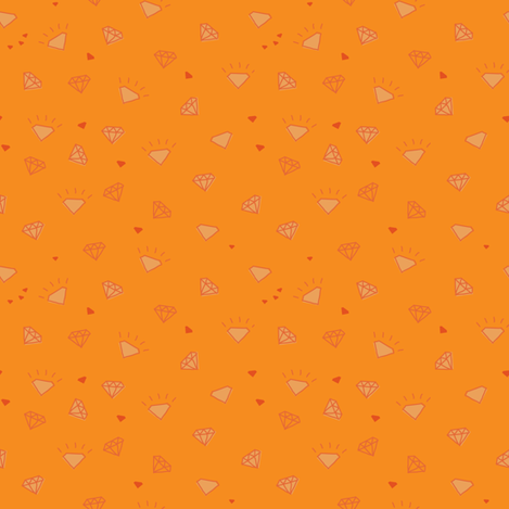 diamonds_orange-01 fabric by owls on Spoonflower - custom fabric