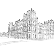 Downton Abbey Simple Toile