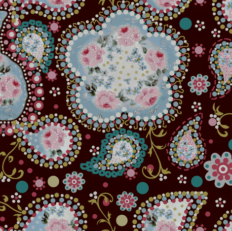 coco rose fabric by paragonstudios on Spoonflower - custom fabric