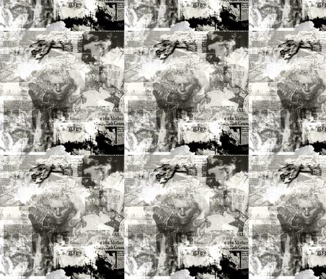 Psychokiller Collage fabric by ladysaltina on Spoonflower - custom fabric