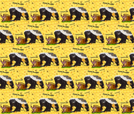 HONEY BADGER SNACK fabric by bluevelvet on Spoonflower - custom fabric