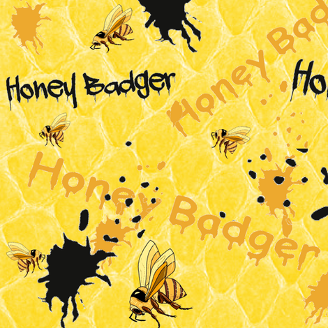 HONEY BADGER SPLATTER fabric by bluevelvet on Spoonflower - custom fabric