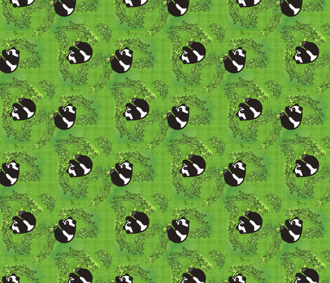 Playful panda fabric by hannafate on Spoonflower - custom fabric