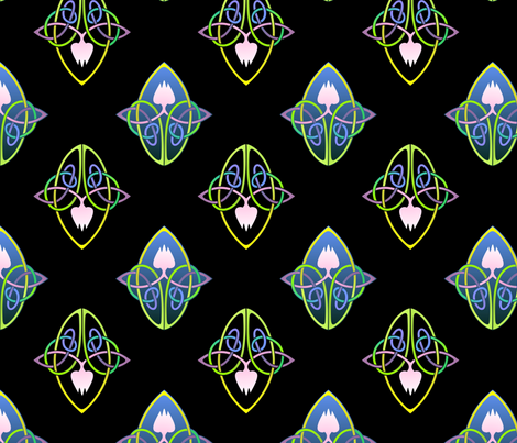 lotus knots fabric by hannafate on Spoonflower - custom fabric