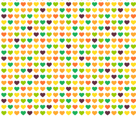 summer hearts fabric by bubbledog on Spoonflower - custom fabric