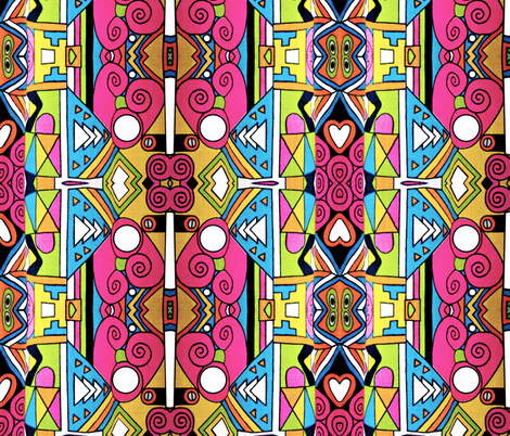 Pop Princess fabric by whimzwhirled on Spoonflower - custom fabric
