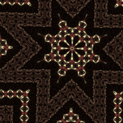 brown_abstract_star_pattern