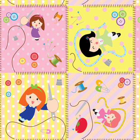 spoonflower_sewing_celebrations4panel fabric by applepai on Spoonflower - custom fabric
