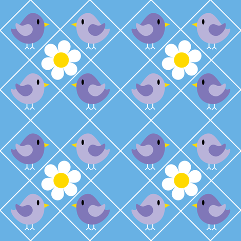 Hello Birdy v2.1 fabric by shelleymade on Spoonflower - custom fabric
