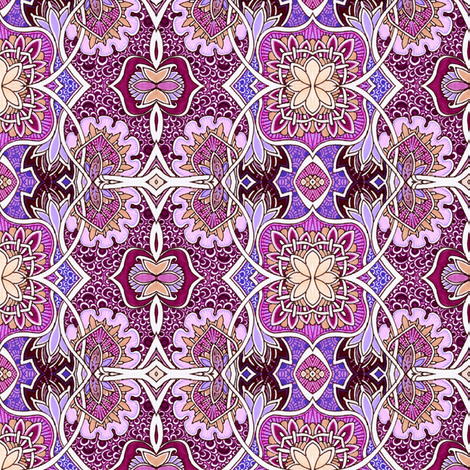 Companion to Paisley Fields Nouveau fabric by edsel2084 on Spoonflower - custom fabric