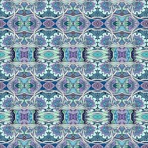 Loopy Blue Horizontal Stripe