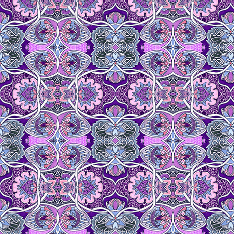 Lavender Garden of Lassos fabric by edsel2084 on Spoonflower - custom fabric