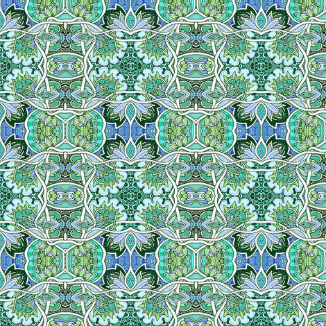 Formal Green Tangles fabric by edsel2084 on Spoonflower - custom fabric