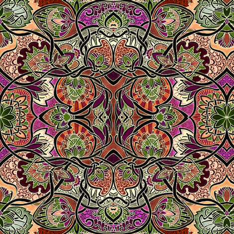 Thanksgiving Table fabric by edsel2084 on Spoonflower - custom fabric